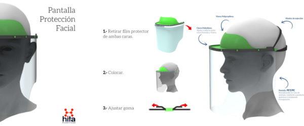 Material sanitario contra el covid19: Pantallas de Protección Facial.